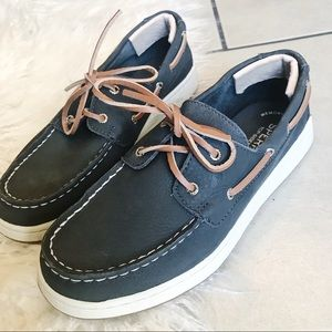 SPERRY Top-Sider Memory Foam Boys Shoes Boat Sz 4
